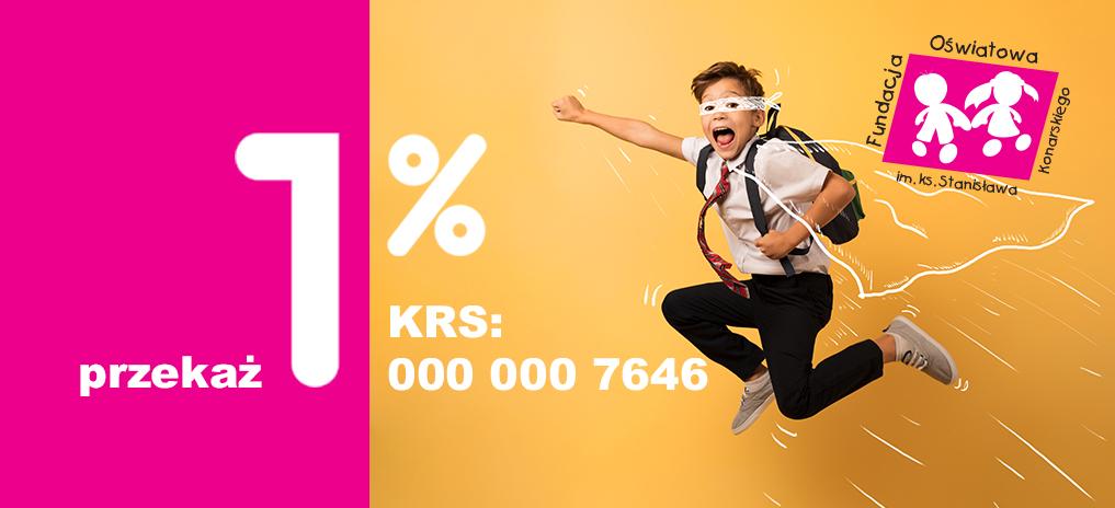 Przekaż swój 1% na działania naszej Fundacji
